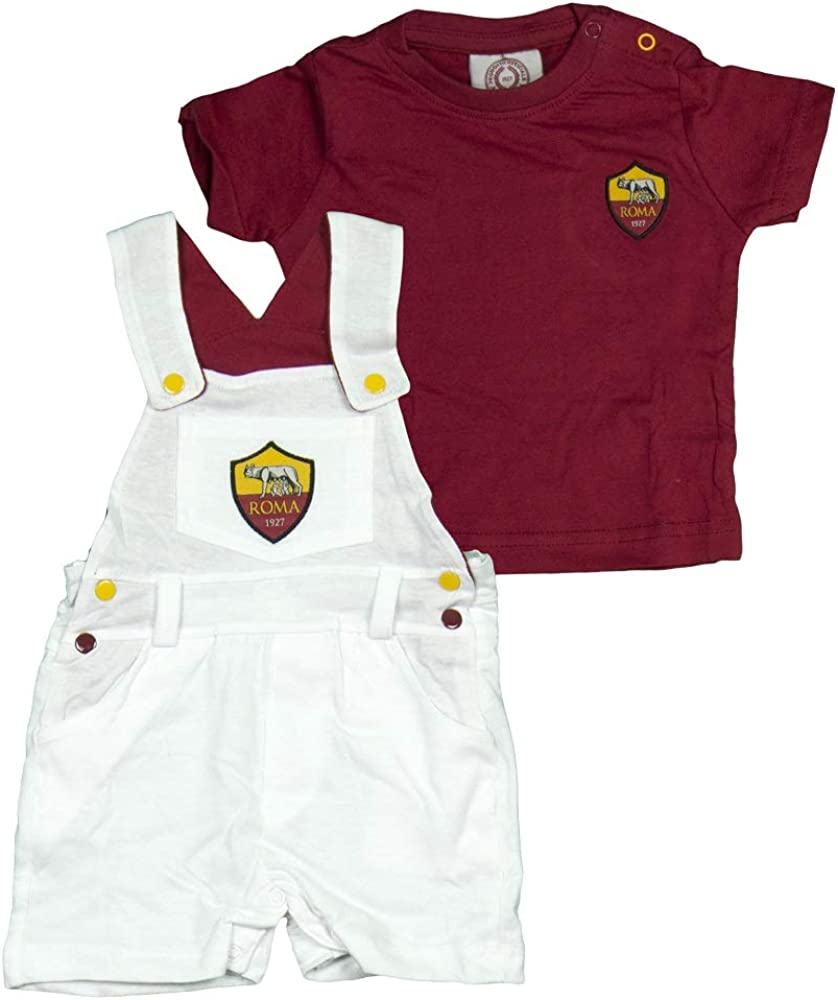 AS Roma Salopette+T-Shirt Neonato R13658