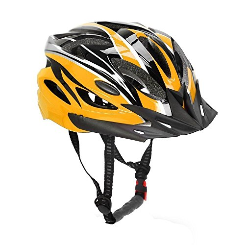 Bormart Adult Cycling Bike Helmet,Lightweight Adjustable Bicycle Helmet Specialized for Men Women Mountain Bicycle Road Safety Protection (black+yellow) (Dial Womens Yellow)