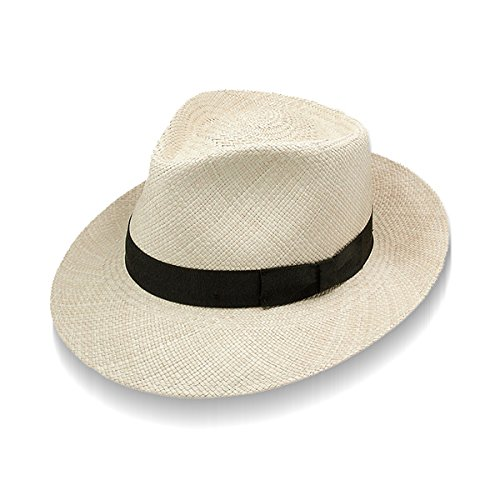 Stetson Hats Mens Retro 2 1/2 Brim Panama Fashion Hat M Natural - Straw Retro Hat