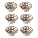 Pack of 6 Mini Pie Cupcake Pans Egg Tart Bakeware - 3 Inch NonStick Bakeware Mold(Style Four)