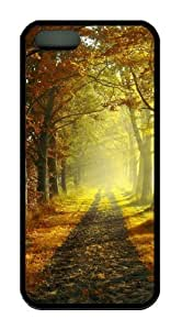 Country road TPU Black free iphone 5S cases for Apple iPhone 5/5S
