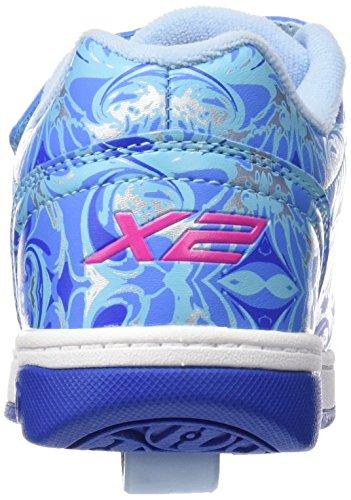 HEELYS Dual Up 770593 - Zapatos 2 ruedas para niñas Solid Blue/Multi/Marble