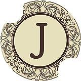 Thirstystone Monogram J Car Cup Holder Coaster, 2-Pack