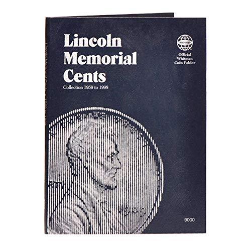 Whitman US Lincoln Memorial Cent Coin Folder Volume 1 1959 - 1998 #9000
