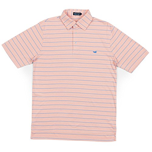 Lg Performance Polo - Southern Marsh Berkeley Performance Polo - Striped (LG)