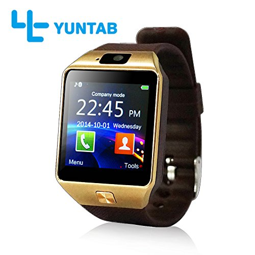 Yuntab SW01 Watch Bluetooth Smart Watch Fitness Wrist Wrap Watch Phone with (Touch Screen Smartphones)