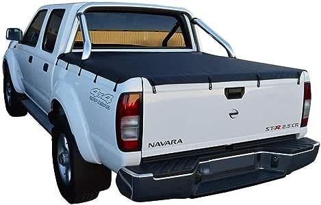 Nissan Navara D22 ST-R (2009 to June 2015) Dual Cab with Factory Sports Bars Bunji Tonneau Cover