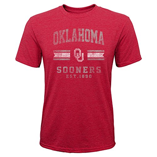 Gen 2 NCAA Oklahoma Sooners Youth Boys Player Pride Tri-Blend Tee, Youth Boys Medium(10-12), - Players Oklahoma Sooners