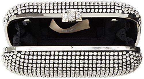S HB526 Silver Handbag SARO LIFESTYLE q1E5xC5nUw