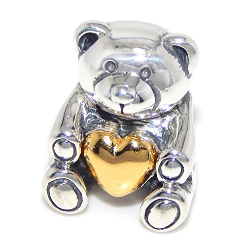 Teddy Bear Solid Silver Sterling (Solid 925 Sterling Silver