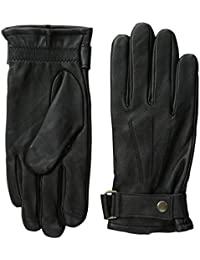 Men's Leather Gloves with Belted Cuffs