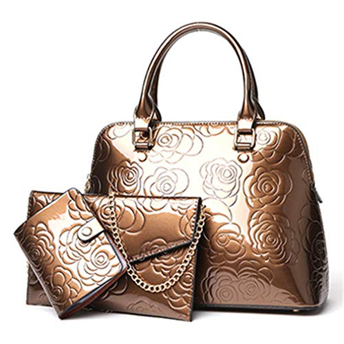 Gold Composite 3 Bag Women Bags Leather Gold Messenger Sets R0Zwq0