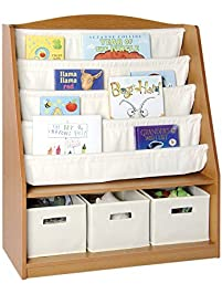 Book And Bin Storage Center   School Supply Book Display Rack, Kids  Furniture, Sling