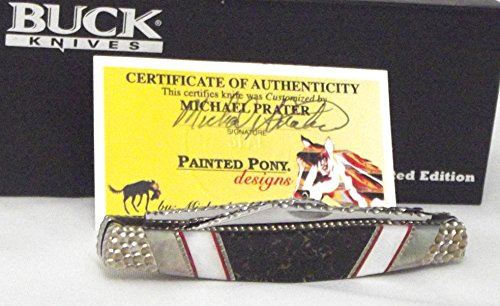 Buck Knives 301PESLE Painted Pony Stockman Pocket Knife with Pearl & Jasper Handles
