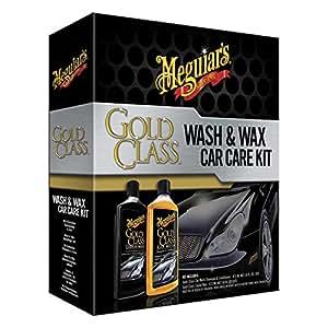 Meguiars Gold Class Wash & Wax Care - Juego de producto limpiador y cera para coche (473 ml cada bote)