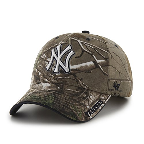 MLB New York Yankees Real Tree Frost Camouflage Adjustable H