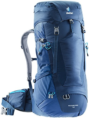 (Deuter Futura PRO 40 Backpacking Pack with Detachable Rain Cover, Midnight/Steel, 40 L)