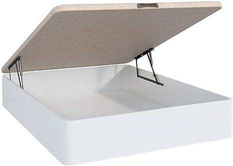 fanmuebles - Canapé abatible 3D EBRO Blanco Alta Capacidad ...