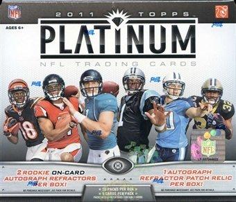 2011 Topps Platinum Football Factory Sealed Hobby Box (3 Autographed Cards / (Platinum Hobby Box)