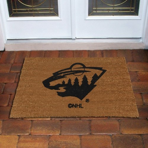 Coir Nhl Door Mat - The Memory Company NHL Minnesota Wild Flocked Door Mat