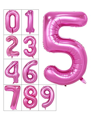 40-inch-numbers-0-9-pink-helium-foil-digital-mylar-balloons-for-birthday-party-number-5