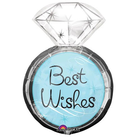Best Wishes Engagement Ring 27″ Mylar Balloon, Health Care Stuffs