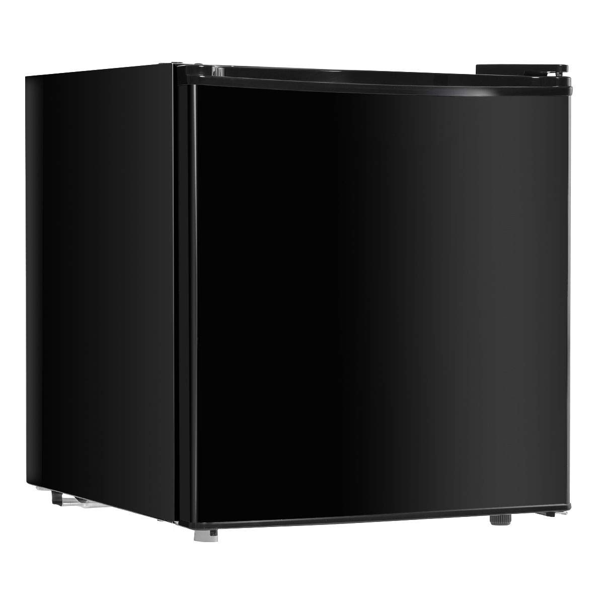 LHONE Compact Mini 1.7 cu. ft. Single Door Refrigerator Cold-rolled Sheet Refrigerator Organizer Portable with Freezer Cooler (Black)