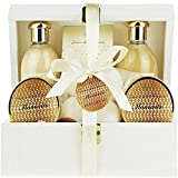 Deluxe Bath Spa Gift Set -Special MOMENTS Organic Bath and Body Spa Treatment for birthday gift, holiday gift etc – Perfect Bath Gift Set for Women – All-Natural Spa Treat Gift Basket