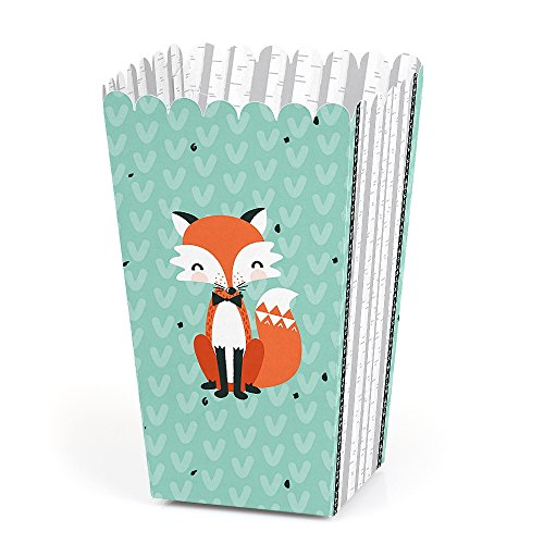 (Mr. Foxy Fox - Baby Shower or Birthday Party Favor Popcorn Treat Boxes - Set of 12)