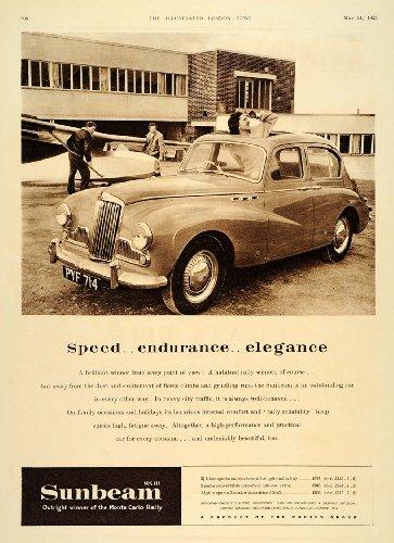 Ltd Sunroof (1955 Ad Sunbeam Mk III Sports Saloon Sunroof Automobile - Original Print Ad)
