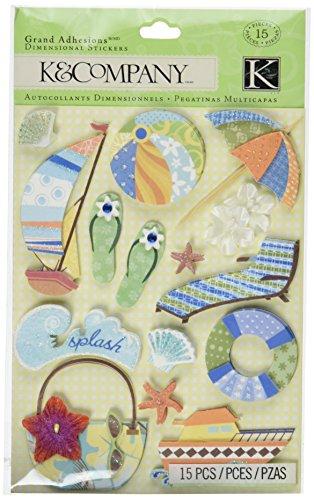 K&Company Happy Trails Fun Grand Adhesions Stickers ()