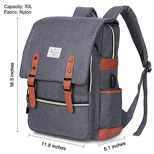 Modoker Vintage Laptop Backpack for Women Men,School College Backpack 6