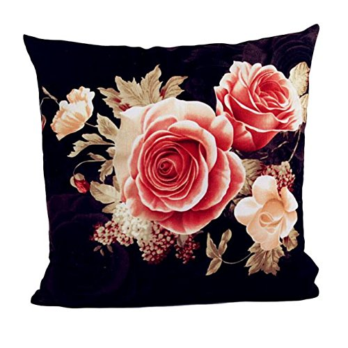 Halloween Hot TOTOD Printing Dyeing Peony Sofa Bed Home Decor Pillow Case Cushion Cover