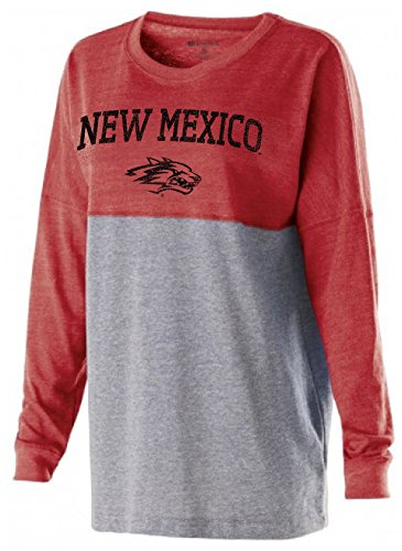 Ouray Sportswear NCAA New Mexico Lobos Women's Low Key Pullover, X-Large, Vintage Scarlet/Vintage Grey