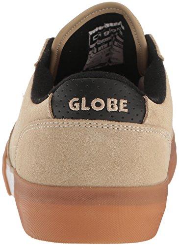 Globe Mens Mojo Legacy Scarpa Da Skateboard Color Kaki / Bianca