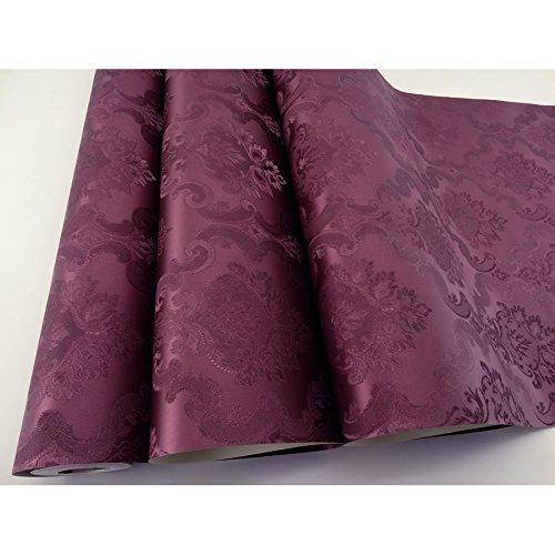 Papel de Parede Lavável - Vinho com Arabescos - Rolo com 10m x 53cm- LMS-PPD-760201