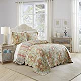 Waverly Spring Bling Bedspread Collection, King, Vapor