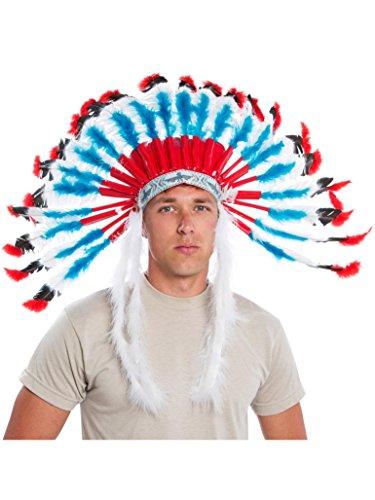 Authentic Western Indian Headdress - Smiffys Western Authentic Indian Headdress