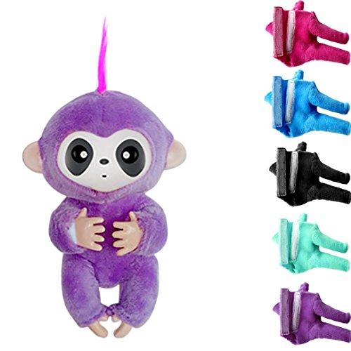 Monkey Cloths (Baby Monkey Shirt,ZYooh 5PCS Mini Plush Clothes for Fingerlings Baby Monkey Kids Gift)
