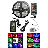 CO-RODE Waterproof IP65 RGB 5050 SMD Flexible LED Strip Lamp light 5M with 44 Key IR Controller Kit (12volts,16.4 Feet,300LED,RGB) Pack of 1