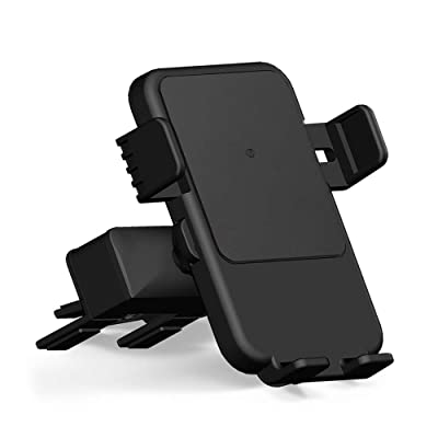 Qi Wireless Charger Car Mount - HMCC CD Slot Phone Holder Silicone Protection 360° Rotatable One-Touch Design Compatible iPhone Xs Max/XS/XR/X/8, Samsung Galaxy S10e/S10+/S10/S9/S9 Plus/S8: Electronics [5Bkhe2011554]