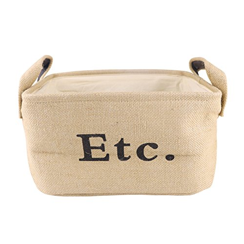 Eco Canvas Storage Bucket 19.7 x 15.7 Inches for Clothes Toys