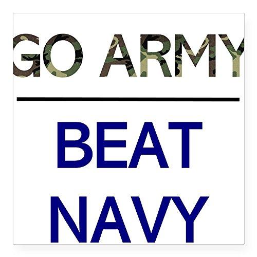 CafePress - Go Army, Beat Navy Square Sticker - Square Bumper Sticker Car Decal, 3