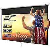 Elite Screens Manual B 100-INCH Manual Pull Down Projector Screen Diagonal 16:9 Diag 4K 8K 3D Ultra HDR HD Ready Home Theater
