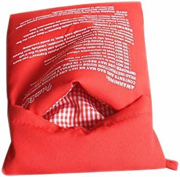 Bolsa para patatas de microondas roja para horno, de vapor rápido ...
