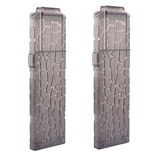 Bullet Clips, Lingxuinfo 2 Pack 18 Darts Magazines Quick Reload Clip for nerf modulus series nerf n-strike elite accustrike series (Transparent Black)