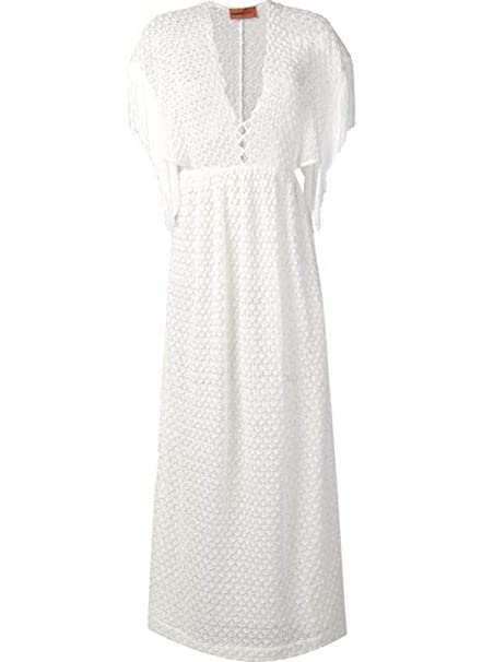 timeless design c3feb dac31 Missoni Vestito Donna MMG00032BR000KS002D Viscosa Bianco ...