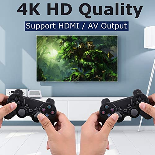 Hawiton Wireless Retro Game Console with TV System & Dual 2.4GHz Controllers Gamepads, Super Console X Pro Video TV Game Console Built in 41000+ Games, 50+ Emulator Console for 4K TV HDMI/ AV Output Best Deal Site | Setia menemani anda