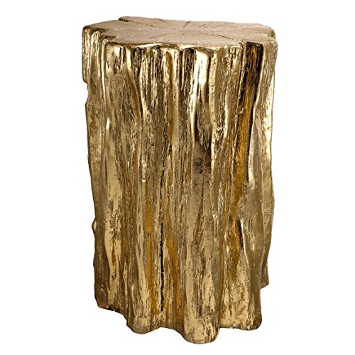 (A&B Home Nature Inspired, Gold Tree Trunk Garden Stool or End Table)