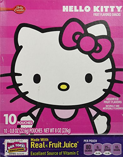 Betty Crocker Hello Kitty Fruit Flavored Snacks, 8 Oz (Pack of 3)]()